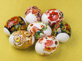 Collection of colorful Easter eggs — Stock Photo