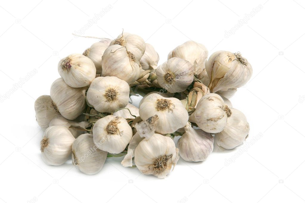 Lots of garlic close-ups - healthy eating — Stock Photo #1099606