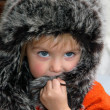Girl in fur cap — Stock Photo #1100780