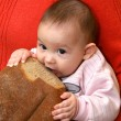 Royalty-Free Stock Photo: The child with bread