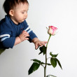 Royalty-Free Stock Photo: The child and a rose