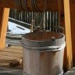 Stock Photo: Wooden well bucket