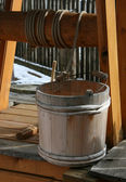 Wooden well bucket — Stock Photo