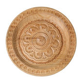 Hand maden wooden plate — Stock Photo