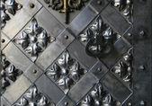 Ancient iron gate — Stock Photo
