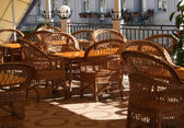 Wicker furniture — Stock Photo