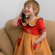 The little child with phone — Stock Photo #1287688