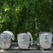 Stock Photo: Three dustbin