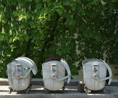 Three dustbin — Stock Photo