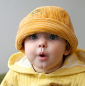 Small child in cap — Stock Photo