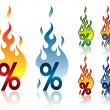 Royalty-Free Stock Vector Image: Burning percent