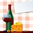 Royalty-Free Stock Vector Image: Cheese&vine