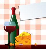 Cheese&vine — Stock Vector