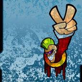 Grunge graffiti — Stock Photo
