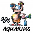 Stock Photo: Aquarius illustration