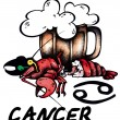 Cancer illustration — Stock Photo