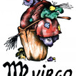 Virgo illustration - Stock Photo