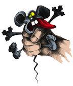 мыши в руке — Стоковое фото