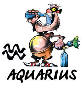 Aquarius illustration — Stock Photo