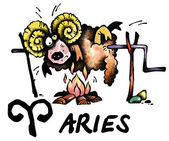 Aries illustration — Stock Photo