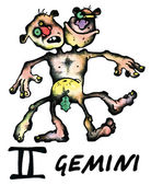 Gemini-abbildung — Stockfoto