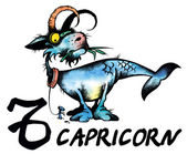 Capricorn illustration — Foto de Stock