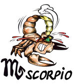 Scorpio illustration — Stock Photo