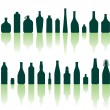 Bottles silhouettes - Stock Vector