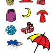 Child_weather&clothes — Stock Vector