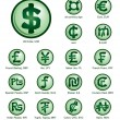 Stock Vector: Currency icons