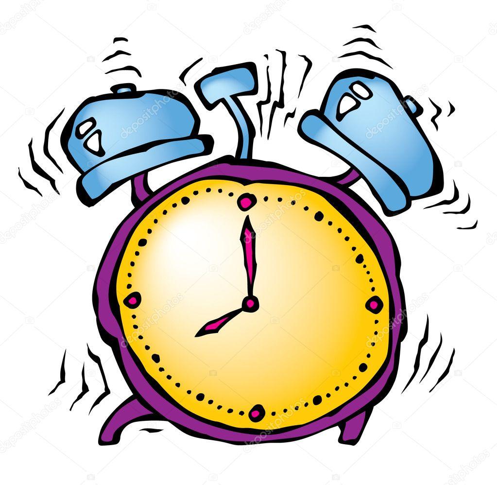 Alarm Clock Ticking And Ringing
