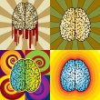 Stock Vector: Brain patterns
