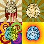 Brain patterns — Stock Vector