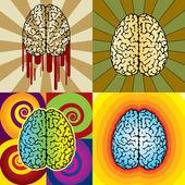 Beyin desenleri — Stok Vektör