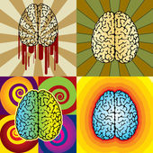 Brain patterns — Stock Vector
