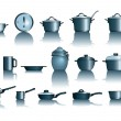 Stock Vector: Pots&pans