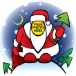 Royalty-Free Stock Vector Image: Put your face instead santa