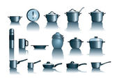 Pots&pans — Stock Vector