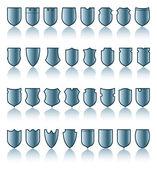 Shield patterns — Stock Vector