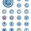 Digital icons set — Stock Vector
