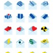 Royalty-Free Stock Vector Image: Mail icons set