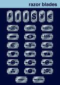 Razor blades icons set — Stock Vector
