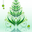 Calligraphic green xmastree - Stock Vector