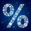 Snowflakes percent - Stock Vector