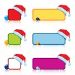 Textframe with santas cap - Stock Vector