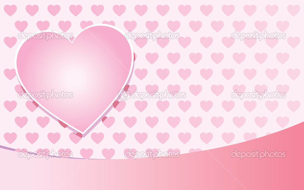 Valentine day pink background with hearts.  Stock Vector #1281446