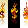 Royalty-Free Stock Vector Image: Burning dollar