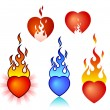 Burning heart — Stock Vector #1384360