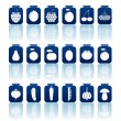 Tinned goods icons - Stock Vector