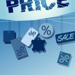 Pricebroken labels — Stock Vector